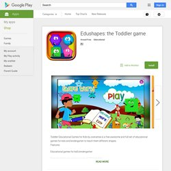 Edushapes: the Toddler game