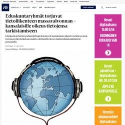 Eduskuntaryhmät torjuvat tietoliikenteen massavalvonnan – kansalaisille oikeus tietojensa tarkistamiseen - Politiikka