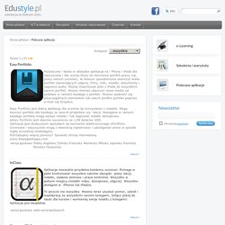 Edustyle - Polecane aplikacje