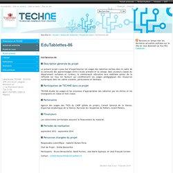 EduTablettes-86 - Equipe d'accueil TECHNE Technologies Numériques pour l'Education - Université de Poitiers