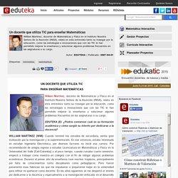 Eduteka - Un docente que utiliza TIC para enseñar Matemáticas
