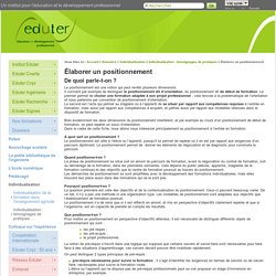 Elaborer un positionnement