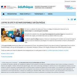 L'offre du Site.tv de mars disponible sur Éduthèque