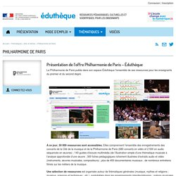 Éduthèque-Ressources philharmonie Paris