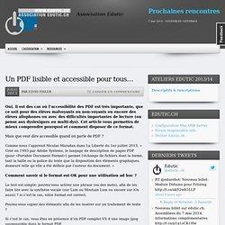 Un PDF lisible et accessible pour tous…