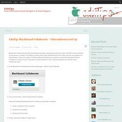 EduTip: Blackboard Collaborate ~ Teleconference Set Up