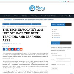 The Tech Edvocate's 2017 List of 116 of the Best Teaching and Learning Apps - The Tech Edvocate