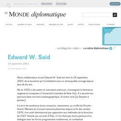 Edward W. Said (Le Monde diplomatique, 26 septembre 2003)