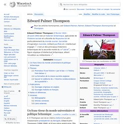 Edward Palmer Thompson