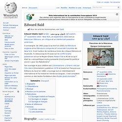 Edward Saïd