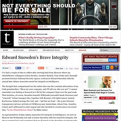 Edward Snowden's Brave Integrity