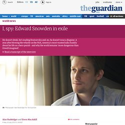 I, spy: Edward Snowden in exile