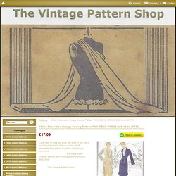 1900s Edwardian Vintage Sewing Pattern Two-Piece Dress b38-40-42 (r774)