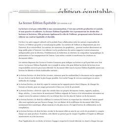 éé* *licence édition équitable : Licence