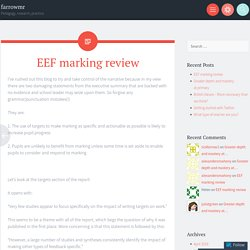 EEF marking review