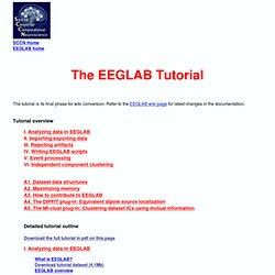 EEGLAB Tutorial: Table of Contents