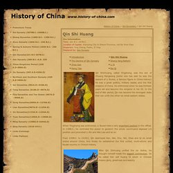 Eemperors of Qin Dynasty, Qin Shihuang, History of Ancient China