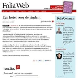 Een hotel voor de student
