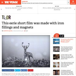 This eerie short film was made with iron fillings and magnets