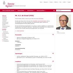 Eerste Kamer der Staten-Generaal - Mr. G.J. de Graaf (VVD)
