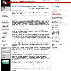 EFA: Resources: Letter of Agreement