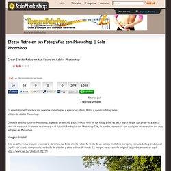 Efecto Retro en tus Fotografías con Photoshop