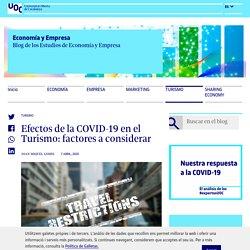 Efectos de la COVID-19 en el Turismo: factores a considerar