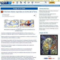 El Sol tiene efectos regionales en el clima de la Tierra