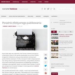 Poradnik efektywnego publikowania