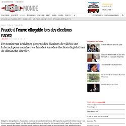Fraude à l'encre effaçable lors des élections russes
