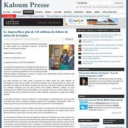 2013 Le JAPON efface les dettes de la Guinée