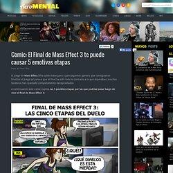 Comic: El Final de Mass Effect 3 te puede causar 5 emotivas etapas