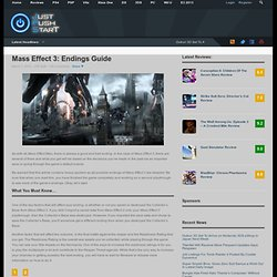 Mass Effect 3: Endings Guide