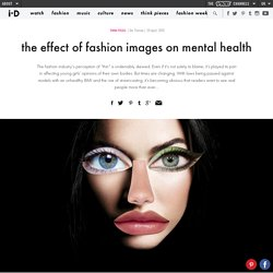 the effect of fashion images on mental health