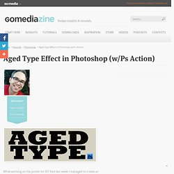 Aged/Distressed Type Effect in Photoshop + Free Action Download