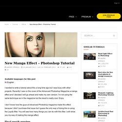 New Manga Effect – 2011 Photoshop Tutorial | PSD Box