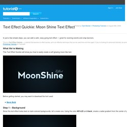 Text Effect Quickie: Moon Shine Text Effect