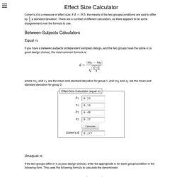 Effect Size Calculator