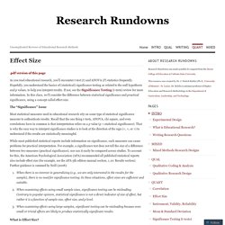 Research Rundowns