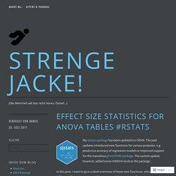 Effect Size Statistics for Anova Tables #rstats – Strenge Jacke!