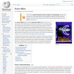 Forer effect