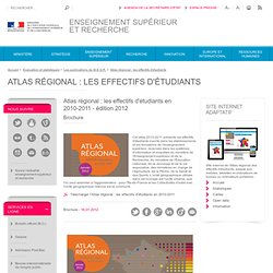 Atlas régional : effectifs d'étudiants en 2010-2011