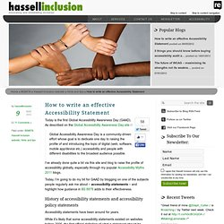 How to write an effective accessibility statement - Hassell Inclusion
