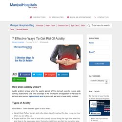 7 Effective Ways To Get Rid Of Acidity - Manipal Hospital Blog