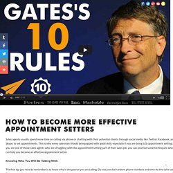How to Become More Effective Appointment Setters by Gabriel Salome
