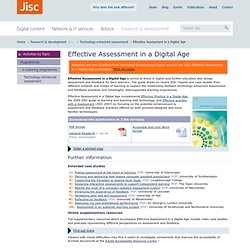 Effective Assessment in a Digital Age