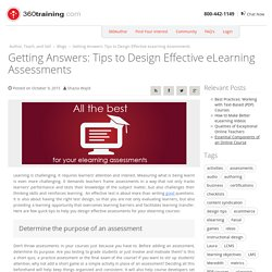 Tips to Design Effective eLearning Assessments