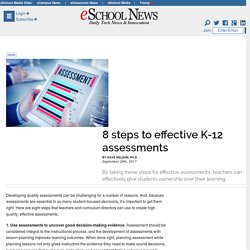 8 steps to effective K-12 assessments