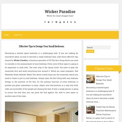 Effective Tips to Design Your Small Bedroom ~ Wicker Paradise