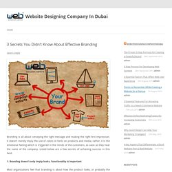 3 Secrets You Didn't Know About Effective Branding - Website Designing Company In Dubai